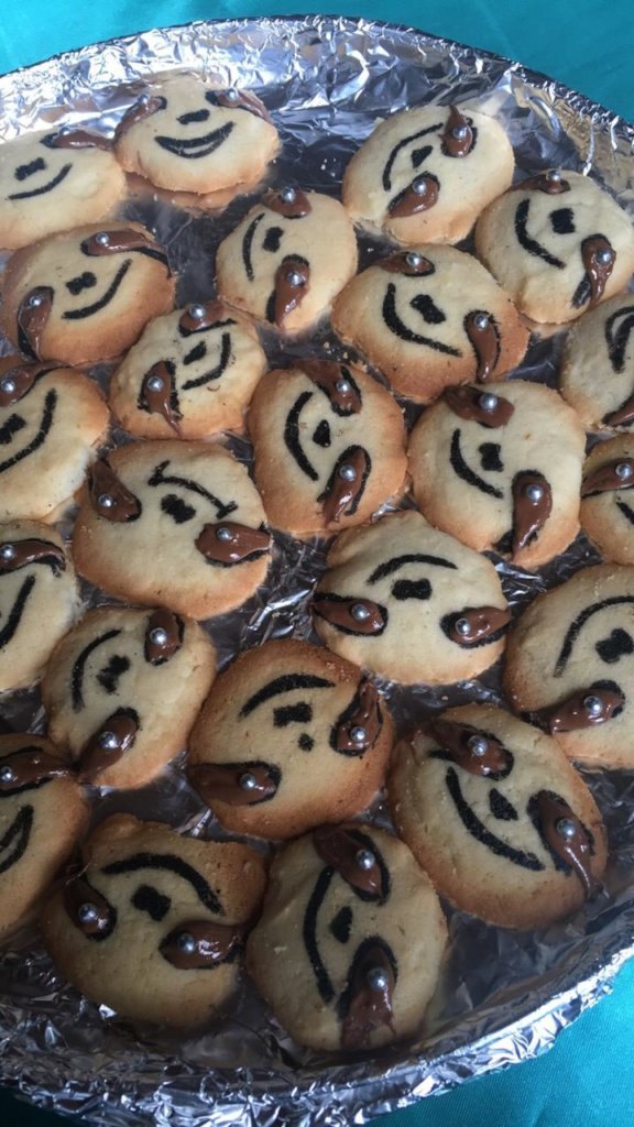 These sloth-face cookies were very tasty