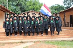 Students at Mbaracayu School celebrate graduation