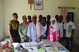Headmaster Thanking HACEP-Ghana Staff