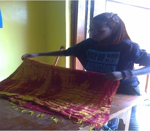Chantal working at the Maisha Collective