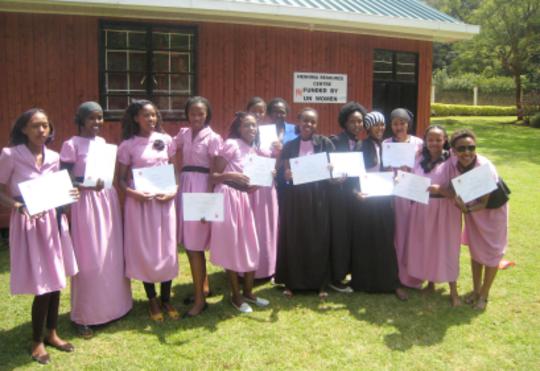 Proud graduates of the Girls