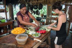 Food preparation in the Bona Fide kitchen