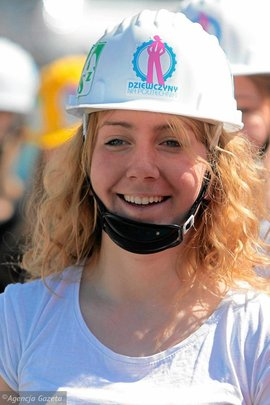 """Participant od charity run """"In the helmet"""""""
