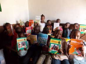 Students with new books
