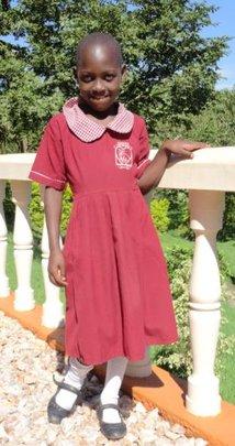 Joyce in her school uniform
