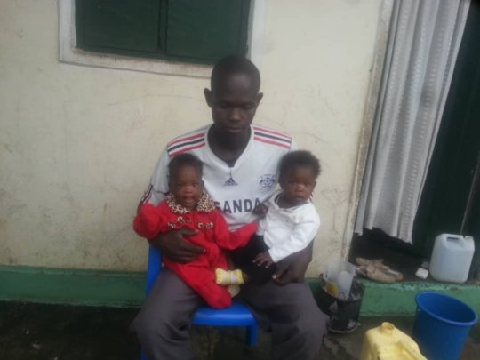 Twins reunited with their Father