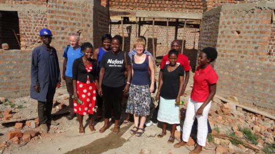 Staff visiting the New Nafasi.