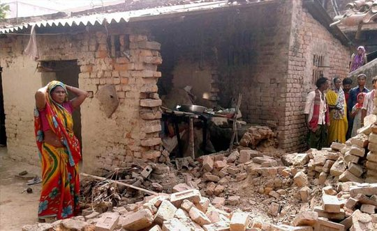 Many poor villages suffered extensive damage