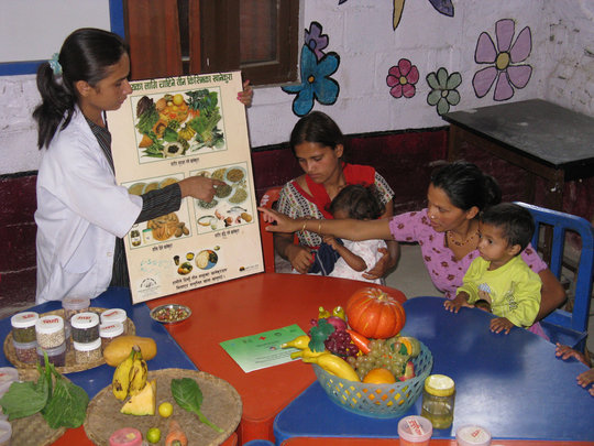 Nutritional education for mothers and children