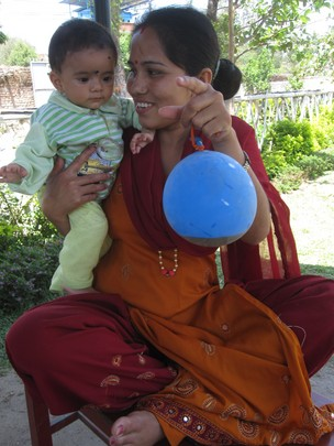 Sita with a healthy-looking Nischita