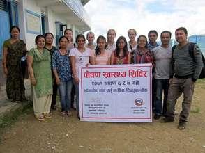 NYF staffers at a nutrition outreach camp