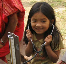 A potential future doctor in rural Nepal