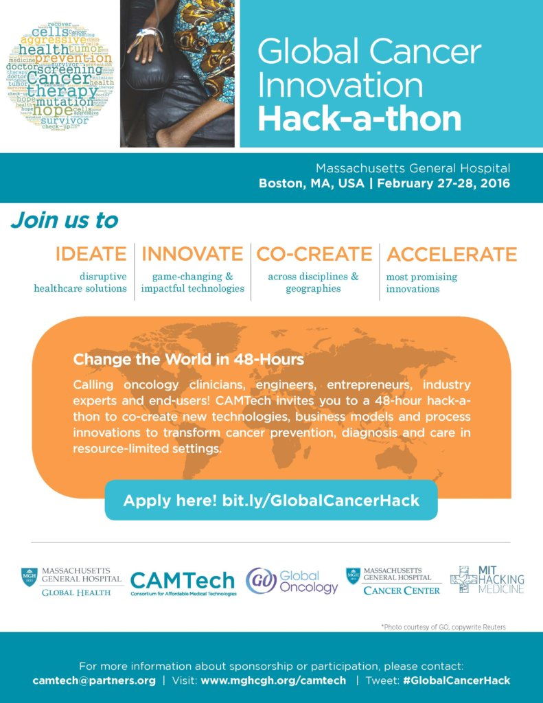 Help us innovate in global cancer care - Apply Now