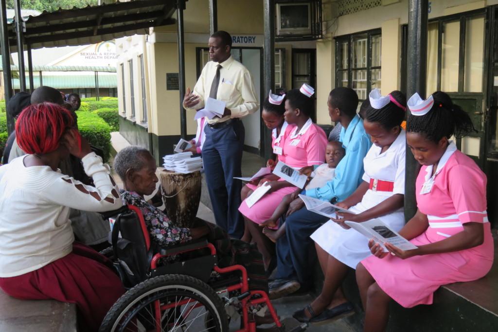Nurses at Bwindi Hospital training w/GO