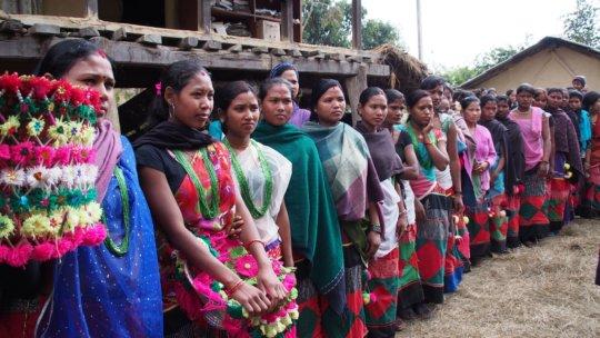 Former Kamlari in traditional Tharu dress