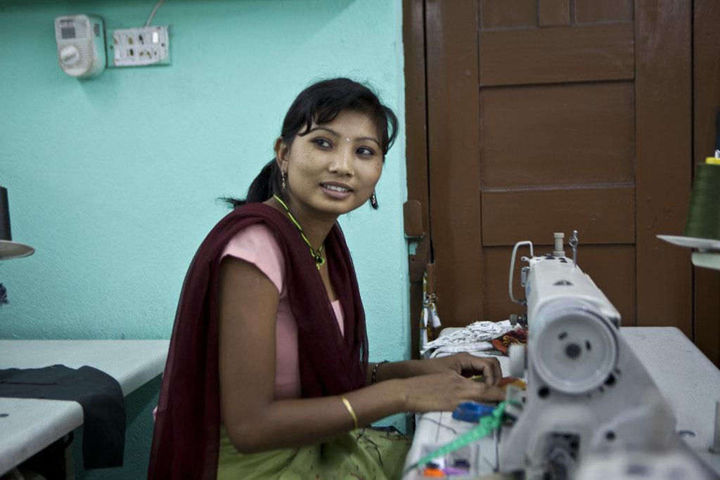 Former Kamlari training to be a seamstress