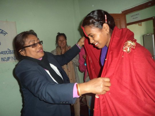 Saraswoti honored for her accomplishment