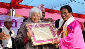 Olga Murray honored at Kamlari Freedom Day