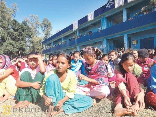 Young Kamlari Girls | Photo credit: Kathmandu Post