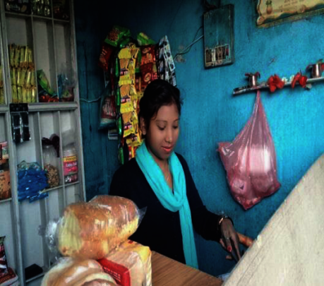 """Kalpana"" running her business"