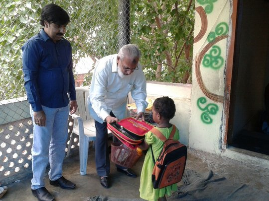 School Bags and Books distribution