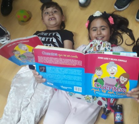 Children with our workshop books