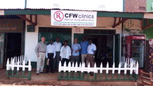 The team outside another beautiful CFW clinic