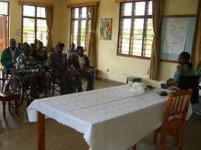 New Wheelchair Users learning health skills