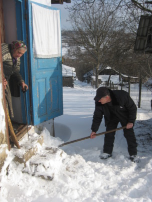 Helping in winter time!