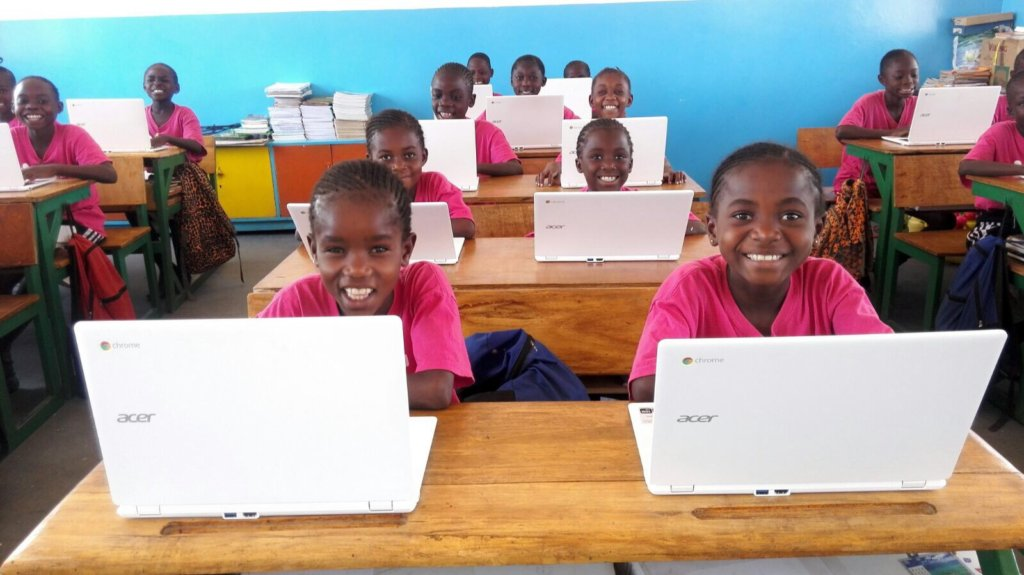 New computer room at the Malaika School