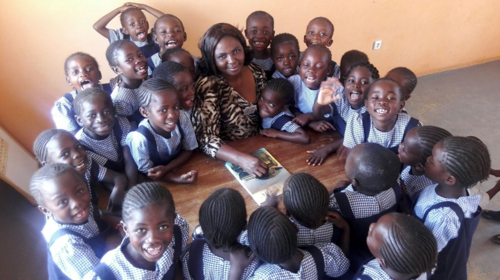 New Kindergarten Class with their Teacher, Therese