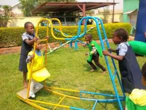 Playing at the Rafiki School