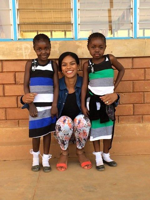 Twins Bijou & Raissa with Malaika Founder, Noella