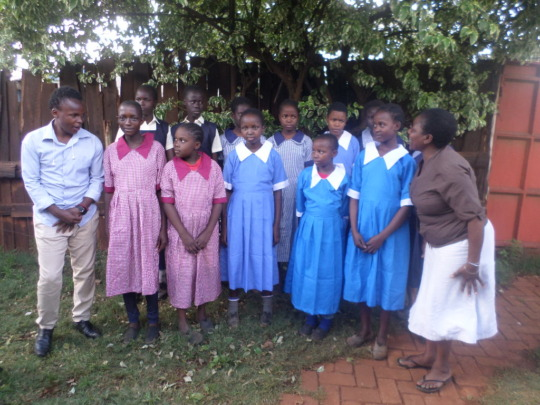 Some of the girls who received new uniforms.