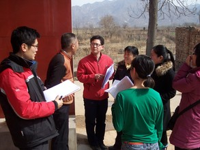 Teachers carry out a project in the village.