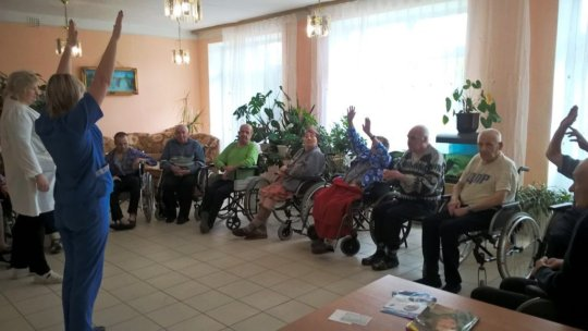 Morning exercises with disabled (Tulskaya region)