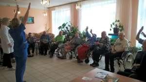 Morning exercises with disabled (Tulskaya region)