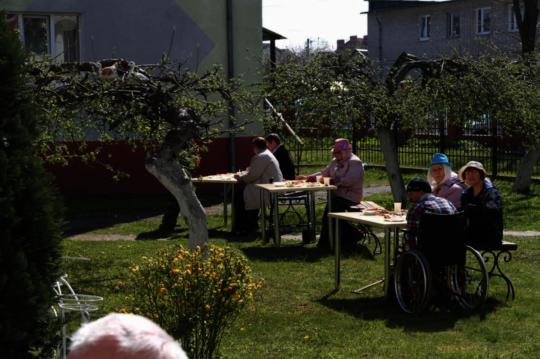 A peaceful garden tea party