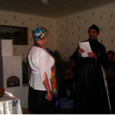 During the performance of Gogol's stories
