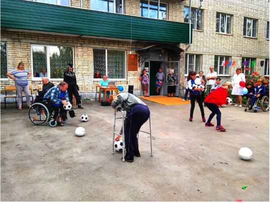 Local sport festival in Dubna care home