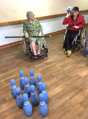 Bowling right in the care home