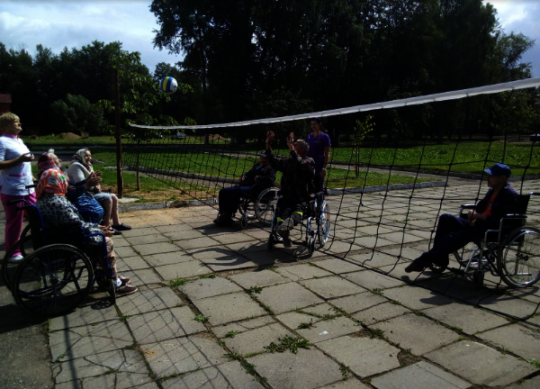Volleyball on wheelchairs? Why not
