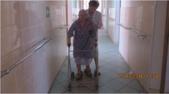 Nina Vasilievna helps babushkas to walk, Vyazma