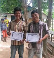Sopheap & Nang complete their teacher training