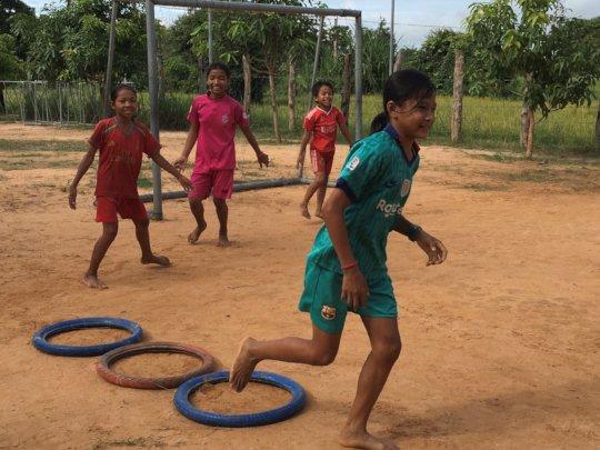 Sports classes back in the school yard!