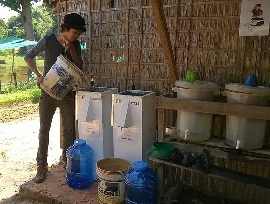 Installing filters for clean drinking water