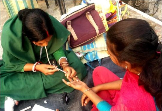 Blood Sample Test of Adolescent Girls