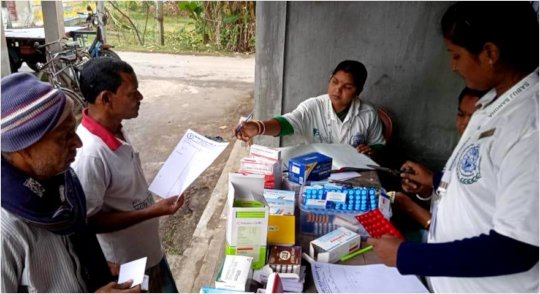 Bulbul cyclone affected people for medicines