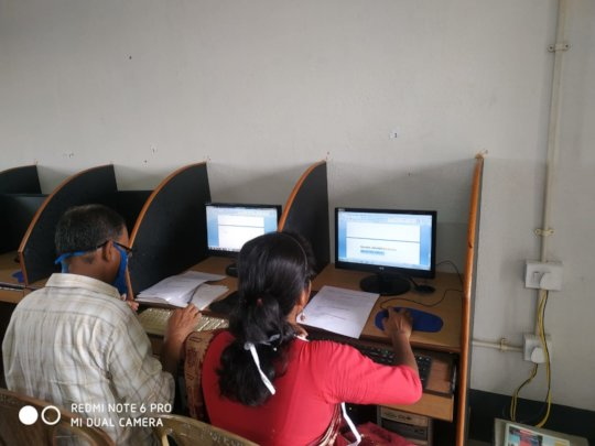 Teachers- busy in Preparing Questionnaire