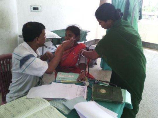 Mothers are treated at sabuj Sangha Hospital